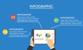 Progettazione piana e moderna infographic per l'affare Fotografie Stock