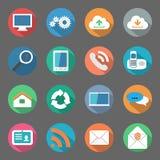 Progettazione piana fissata icone di comunicazione Immagini Stock Libere da Diritti