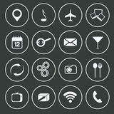 Progettazione piana fissata icone di comunicazione illustrazione vettoriale