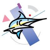 Progettazione piana Marlin del profilo Immagine Stock
