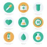 Progettazione piana medica delle icone Immagini Stock Libere da Diritti