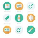 Progettazione piana medica di vettore delle icone Fotografia Stock Libera da Diritti