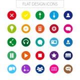 Progettazione piana - pacchetto delle icone. Linea semplice icone. Immagine Stock