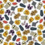 Progettazione piana senza cuciture di Halloween Fotografia Stock Libera da Diritti