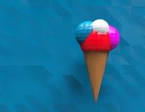 Progettazione poligonale del gelato illustrazione di stock