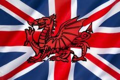 Progettazione possibile per la bandiera del Regno Unito Fotografia Stock Libera da Diritti