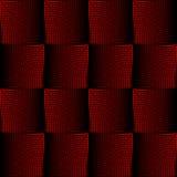 Progettazione quadrata di semitono rossa e nera con effetto spaziale ottico, fondo nello stile del opart Carta da parati ottica d Immagine Stock