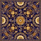 Progettazione quadrata floreale di Paisley di vettore illustrazione di stock