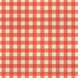 Progettazione a quadretti cucita di struttura del tessuto con colore rosso Fotografie Stock