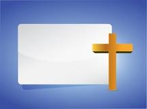 progettazione religiosa trasversale dell'illustrazione dell'insegna illustrazione di stock