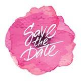 Progettazione 'risparmi della partecipazione di nozze la data' Immagini Stock Libere da Diritti