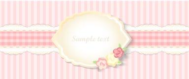 Progettazione romantica classica dell'invito Vettore Colore rosa Immagini Stock