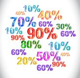 Progettazione romantica delle etichette di vendita di stile illustrazione vettoriale
