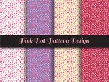 Progettazione rosa del modello di punto Fotografia Stock