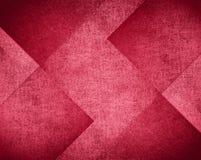 Progettazione rosa e rossa del fondo, modello astratto del blocco Fotografia Stock