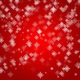 Progettazione rossa astratta della disposizione del fondo con neve Immagine Stock