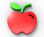 Progettazione rossa 3D della mela Fotografia Stock Libera da Diritti