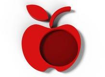 Progettazione rossa 3D della mela Immagine Stock Libera da Diritti