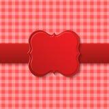 Progettazione rossa della carta di festa Fotografia Stock