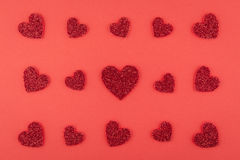 Progettazione rossa di amore Immagine Stock