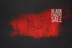 Progettazione rossa e scura di vendita di Black Friday per l'insegna illustrazione di stock
