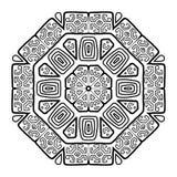 Progettazione rotonda dell'ornamento, stile etnico Fotografie Stock