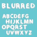 Progettazione sbavata del modello della fonte e del campione dell'etichetta Se di alfabeto di vettore Fotografie Stock Libere da Diritti