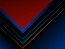 Progettazione scura astratta del modello di copertura di rapporto Fotografie Stock