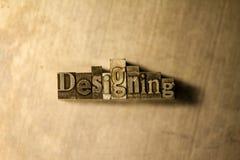 Progettazione - segno dell'iscrizione dello scritto tipografico del metallo Fotografia Stock Libera da Diritti