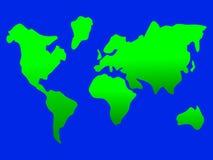Progettazione semplice magnifica della mappa della terra Fotografia Stock