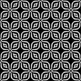 Progettazione senza cuciture in bianco e nero del modello di vettore Fotografie Stock