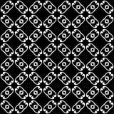 Progettazione senza cuciture in bianco e nero del modello di vettore Immagine Stock Libera da Diritti