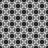 Progettazione senza cuciture in bianco e nero del modello di vettore Fotografie Stock Libere da Diritti