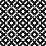 Progettazione senza cuciture in bianco e nero del modello di vettore Immagine Stock