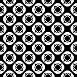 Progettazione senza cuciture in bianco e nero del modello di vettore Fotografia Stock