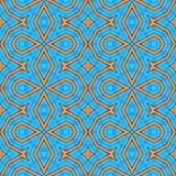 Progettazione senza cuciture del ciano turchese illustrazione di stock