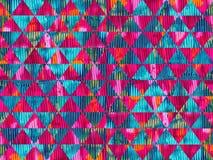 Progettazione senza cuciture del modello della pittura ad olio dei triangoli variopinti di struttura illustrazione vettoriale