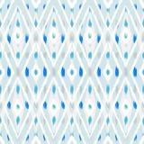 Progettazione senza cuciture del modello di Ikat per tessuto Fotografia Stock
