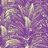 Progettazione senza cuciture del modello di nozze con i fiori e le foglie tropicali esotici Vettore Immagine Stock