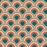 Progettazione senza cuciture del modello di ripetizione del cerchio della scala del pettine royalty illustrazione gratis