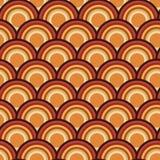 Progettazione senza cuciture del modello di ripetizione del cerchio della scala del pettine illustrazione vettoriale