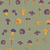 Progettazione senza cuciture del modello del fungo illustrazione vettoriale