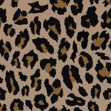 Progettazione senza cuciture del modello del leopardo Priorità bassa dell'illustrazione di vettore immagine stock libera da diritti