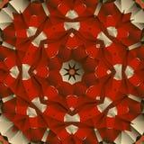Progettazione senza cuciture rossa di vettore della mandala Fotografie Stock Libere da Diritti