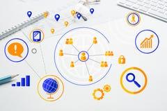 Progettazione senza fili del collegamento Fotografia Stock