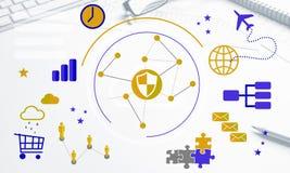 Progettazione senza fili del collegamento Immagini Stock