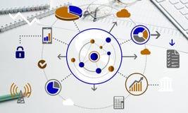 Progettazione senza fili del collegamento Immagine Stock Libera da Diritti