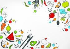Progettazione senza glutine & senza lattosio di dieta: illustrazione sana & ben equilibrata dell'alimento illustrazione vettoriale