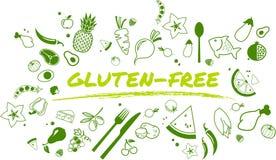 Progettazione senza glutine, sana e ben equilibrata di dieta - illustrazione isolata royalty illustrazione gratis