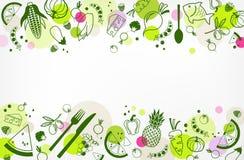 Progettazione senza lattosio, senza glutine & bassa di dieta di FODMAP: illustrazione variopinta & ben equilibrata dell'alimento illustrazione vettoriale